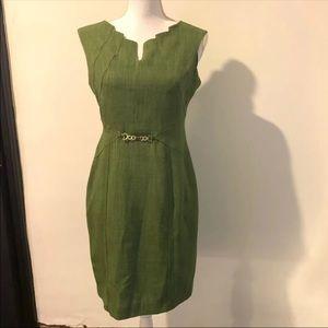 Nwot Ellen Tracy Green Dress Size 4